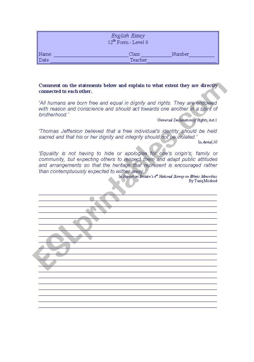 hight resolution of Writng activity 12th grade - ESL worksheet by LuciaRaposo