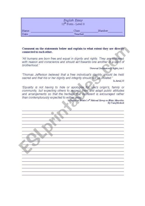 small resolution of Writng activity 12th grade - ESL worksheet by LuciaRaposo