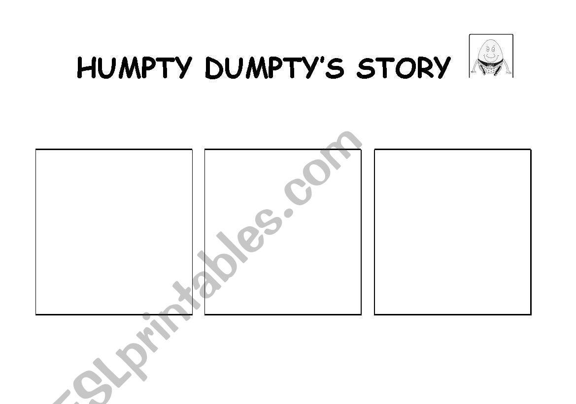 English Worksheets Humpty Dumpty S Story