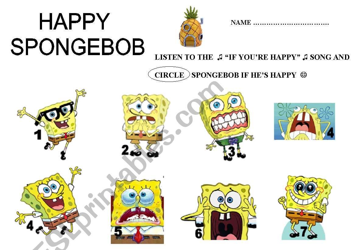 If You Are Happy Spongebob Squarepants