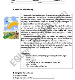 6th grade revision worksheet - ESL worksheet by ritinha23 [ 1169 x 821 Pixel ]