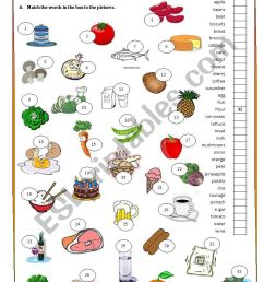 Food and food groups - ESL worksheet by Anapereira [ 1169 x 821 Pixel ]