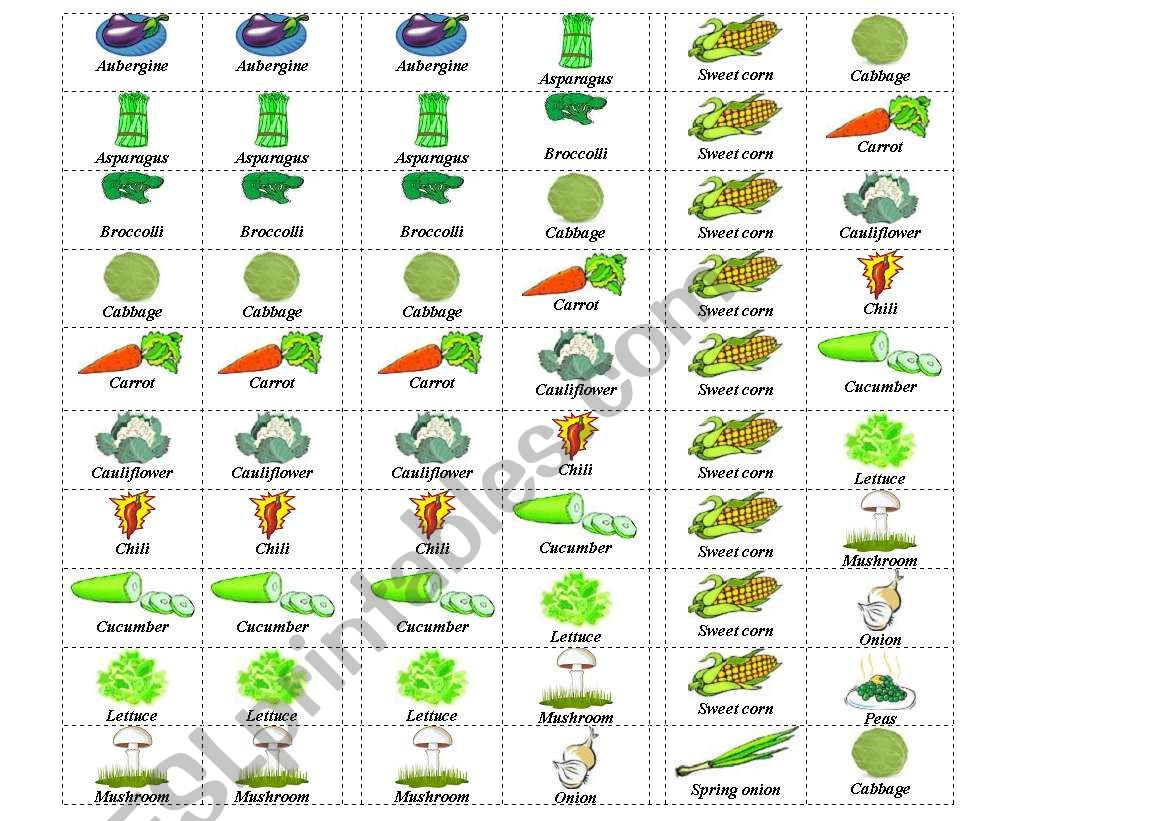 Vegetables Dominos 1