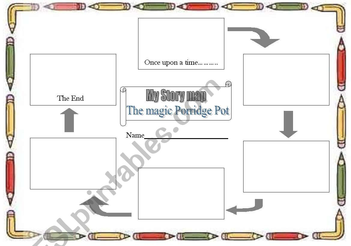 English Worksheets Story Map To Fill In For Yr 1 The Magic Porridge Pot