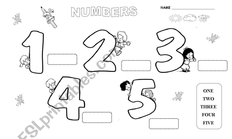 Kinder Pre School Numbers Set 1