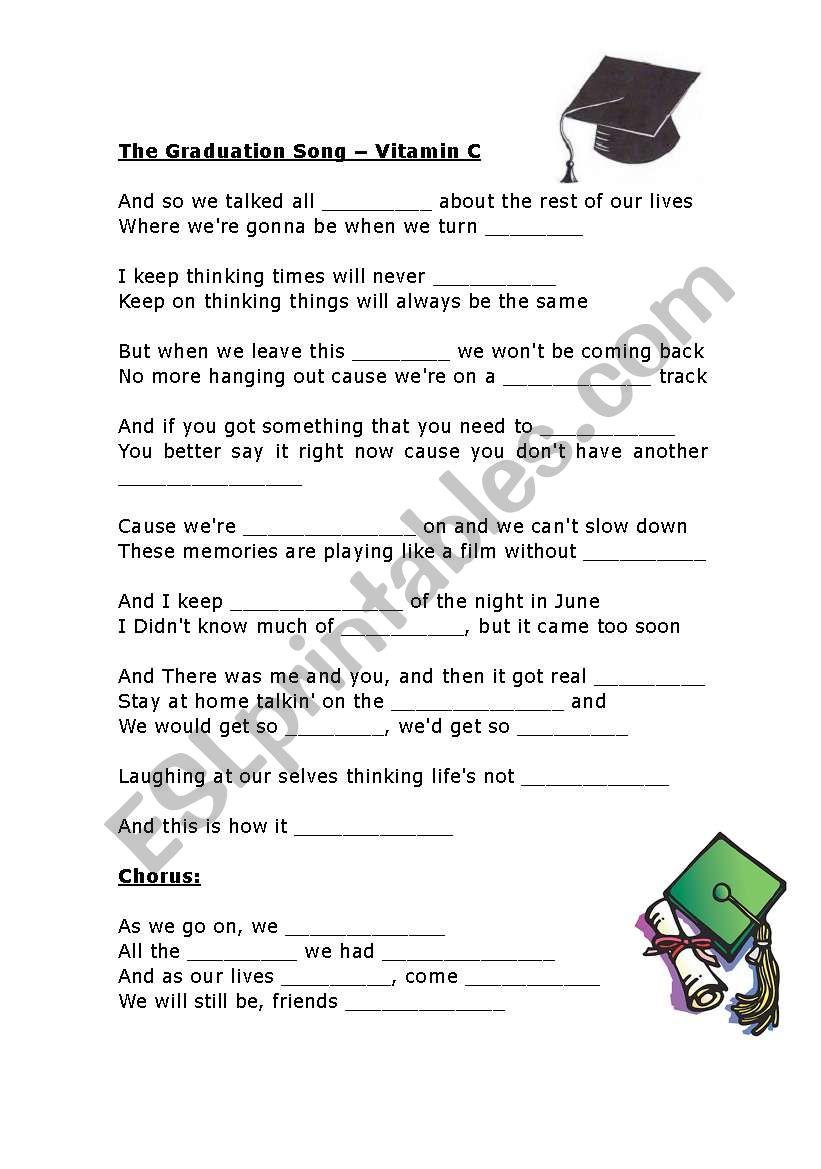 the graduation song esl