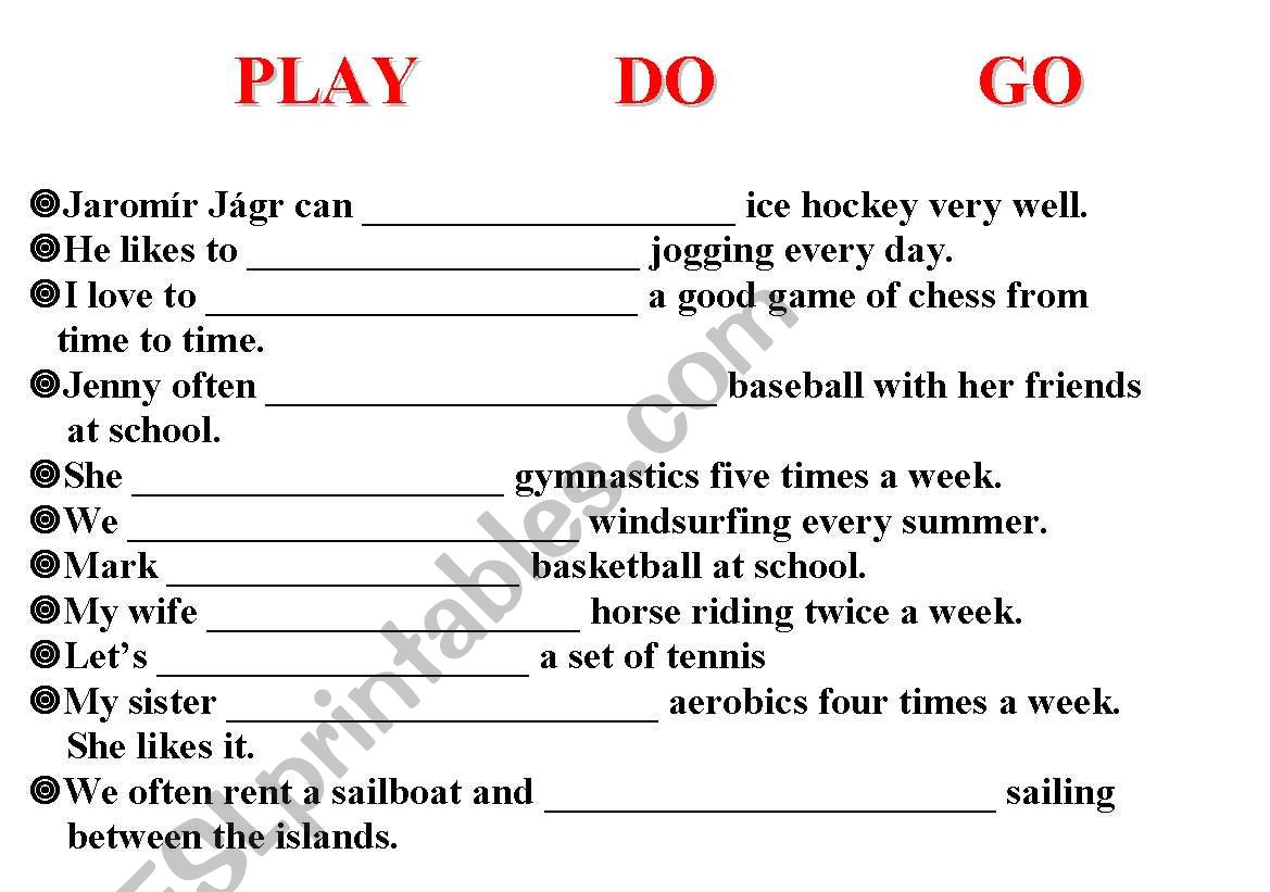 Sports That Go With Play Do Go