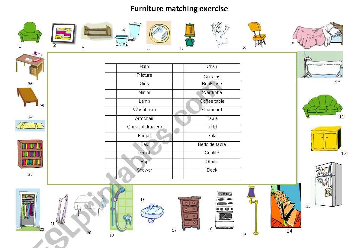 Furniture Matching Exercise