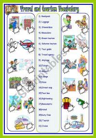 travel and tourism vocab - ESL worksheet by sassouki