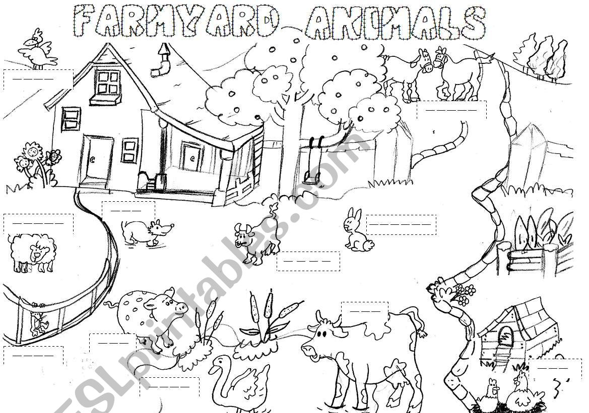Farmyard Animals Worksheet