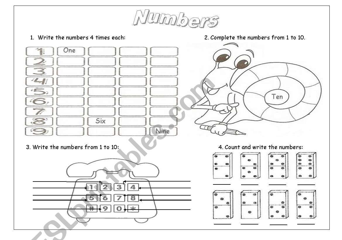 Numbers Practice