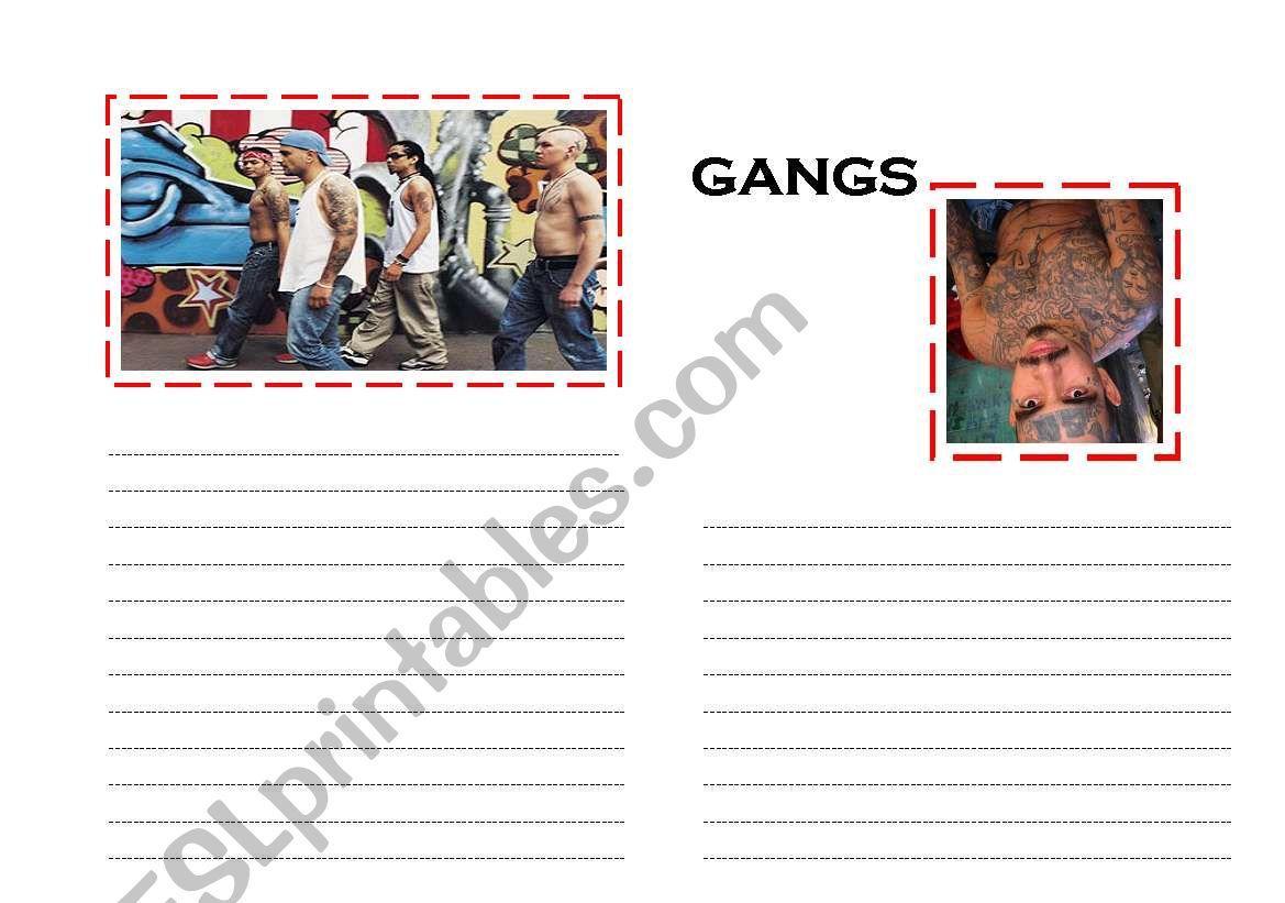 English Worksheets Street Gangs Routine Present Simple