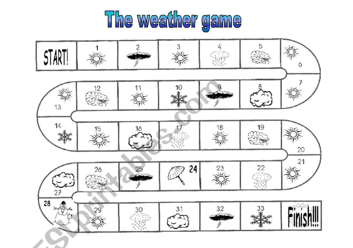 The Weather Game Instructions