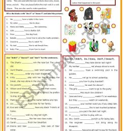 Auxiliary Verb - Do - Don´t - Does - Doesn´t - Did - ESL worksheet by  shusu-euphe [ 1169 x 821 Pixel ]
