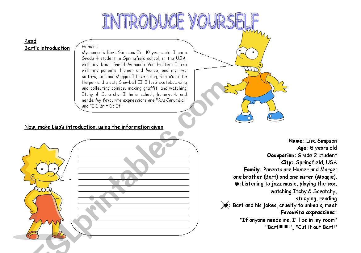Introduce Yourself Simpsons