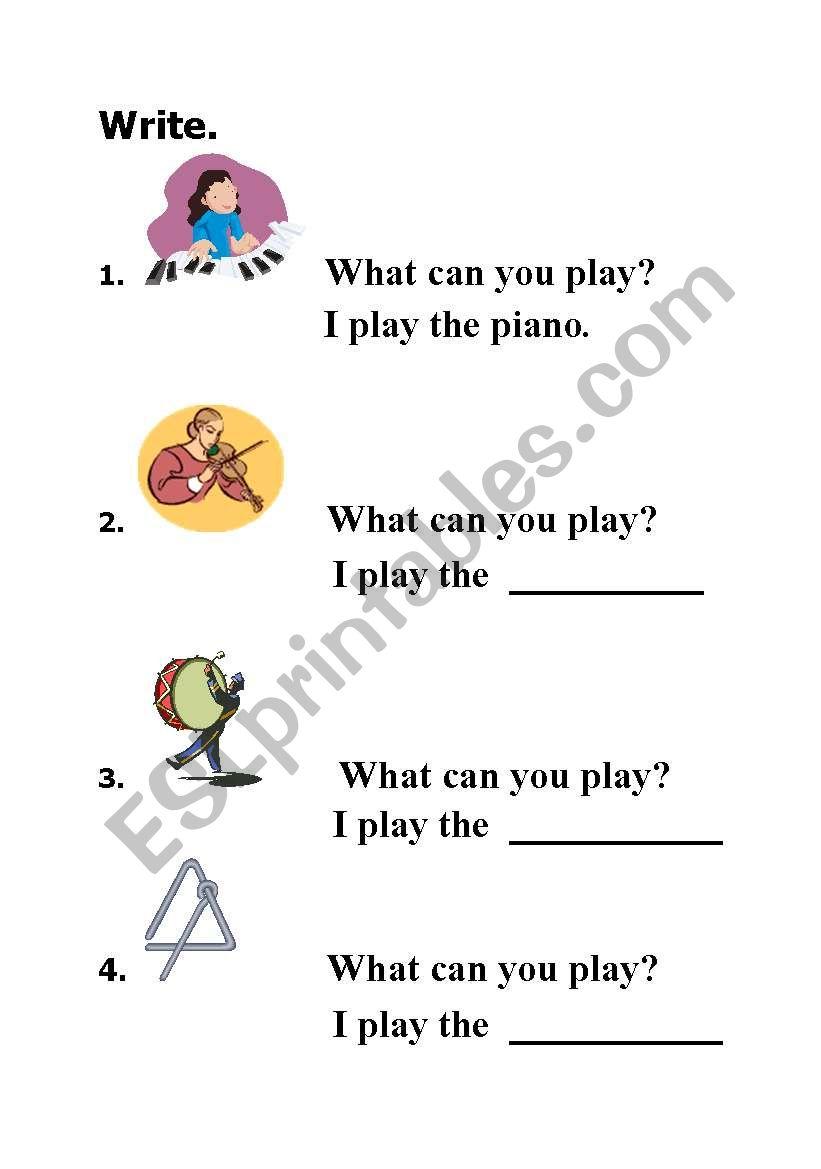 English worksheets: I am the music man