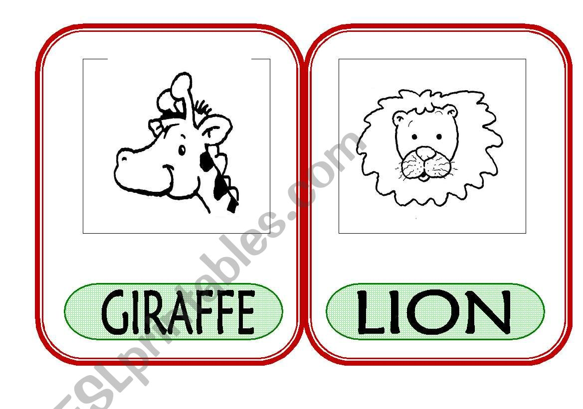 English Worksheets On The Zoo