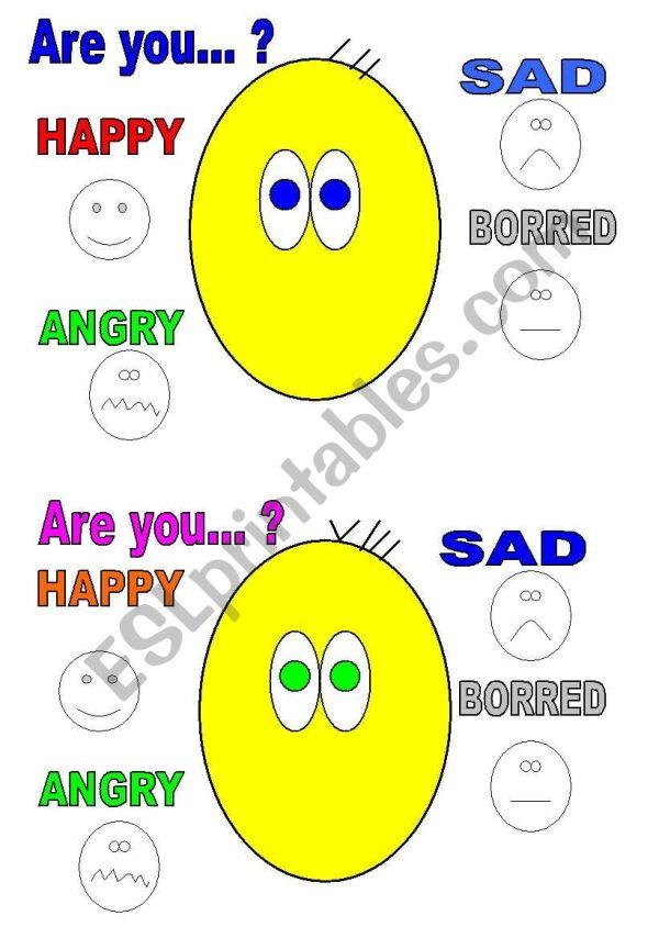 Draw Emotion - Esl Worksheet Majcek