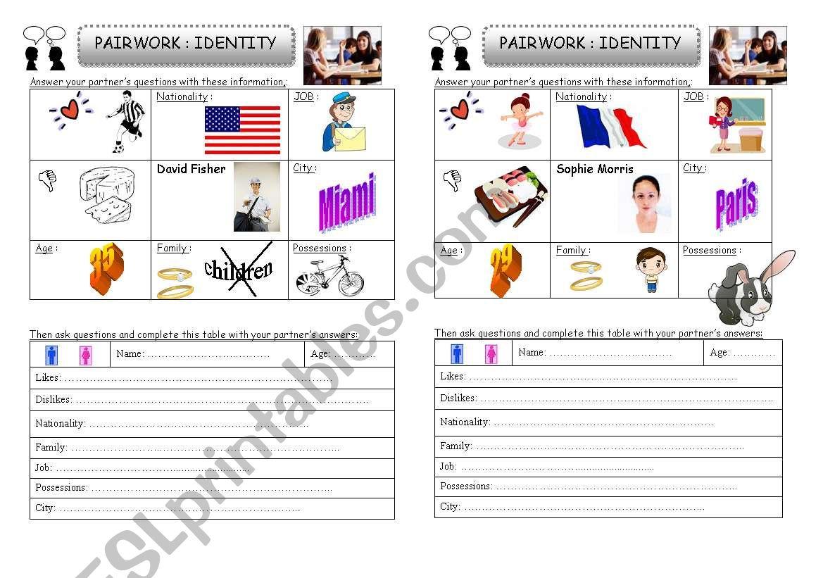Pairwork Identity