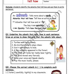 adverbs - ESL worksheet by manar.k [ 1169 x 821 Pixel ]