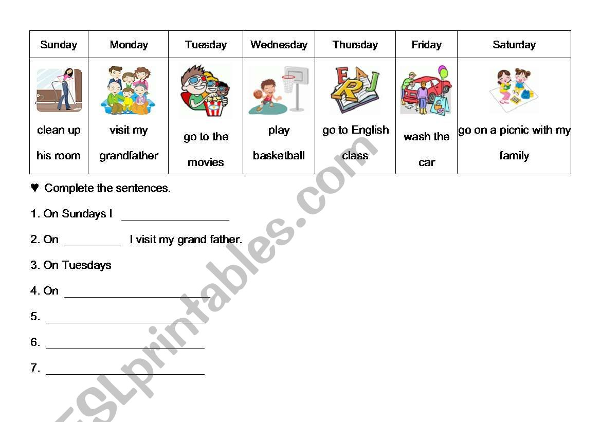My Week Schedule