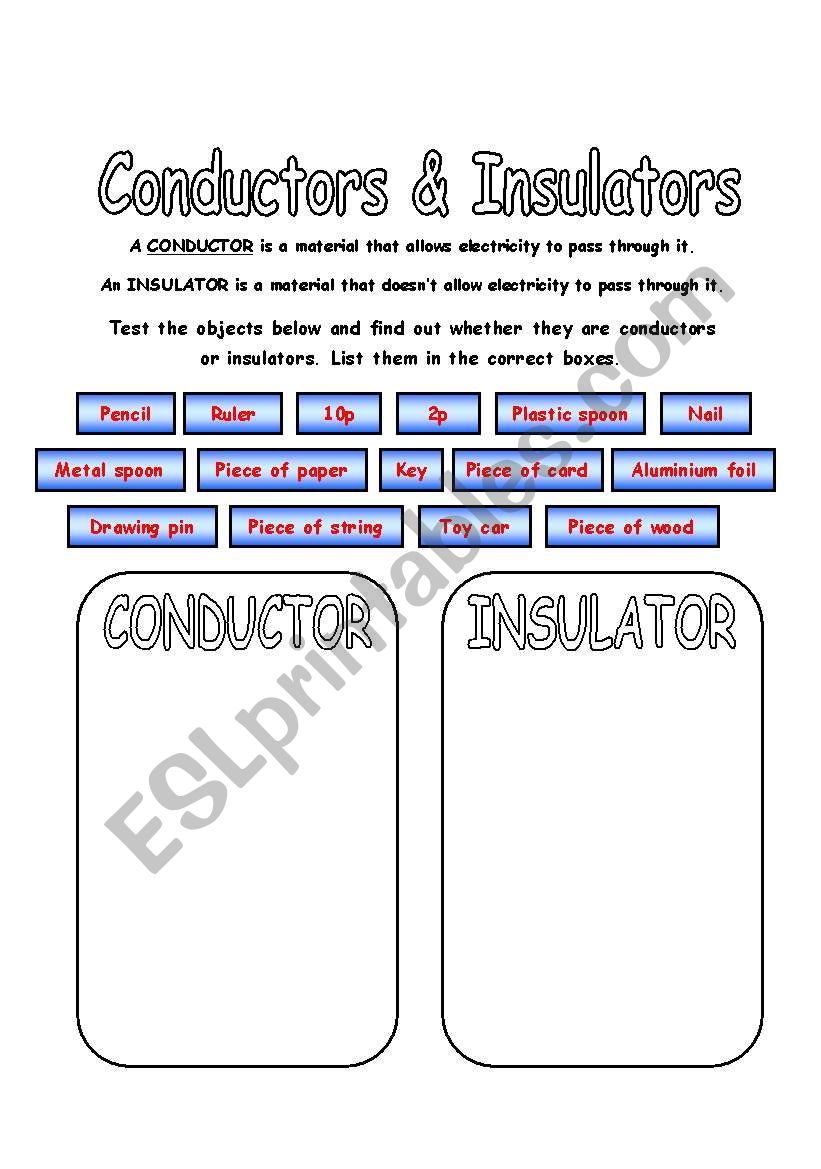 medium resolution of Electricity year 4 worksheets