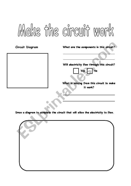 small resolution of make the circuit work worksheet