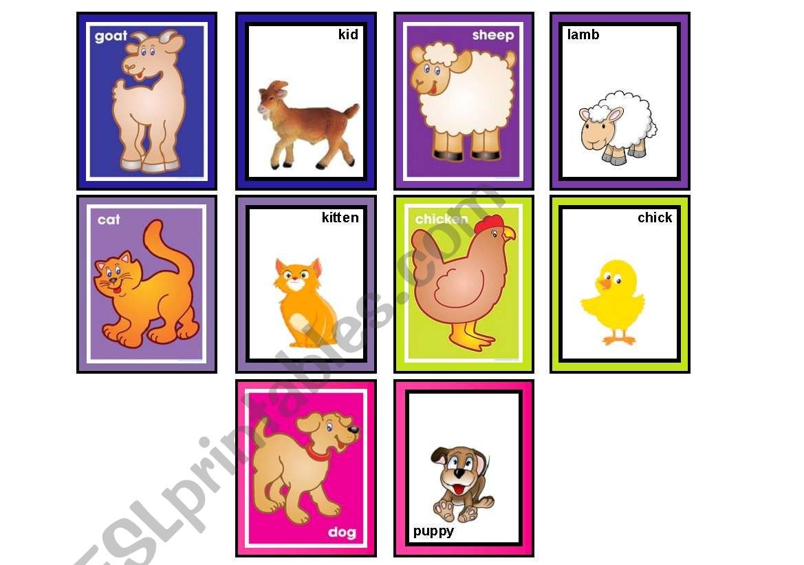 Farm Animals Matching Game Part 2 Of 2 30 Cards In The