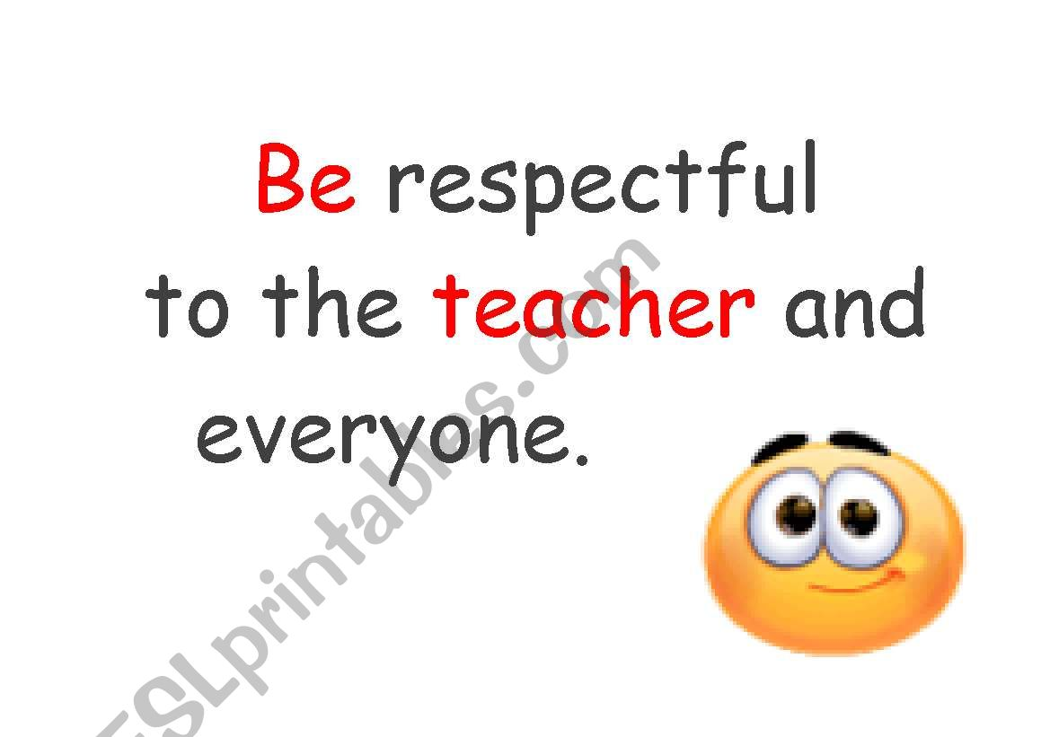 Classroom Rules Instructions