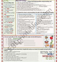 Auxiliary verbs - ESL worksheet by Nuria08 [ 1169 x 821 Pixel ]