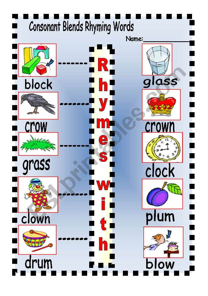 hight resolution of Consonant Blend Words - Letter