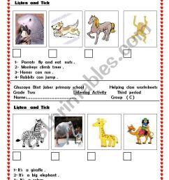 animals - ESL worksheet by hiafifi [ 1169 x 821 Pixel ]