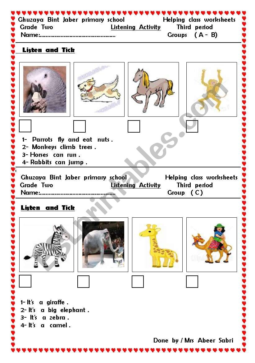 hight resolution of animals - ESL worksheet by hiafifi