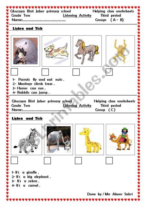 small resolution of animals - ESL worksheet by hiafifi