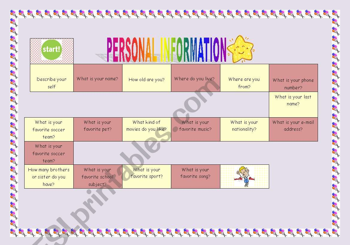 Personal Information Game