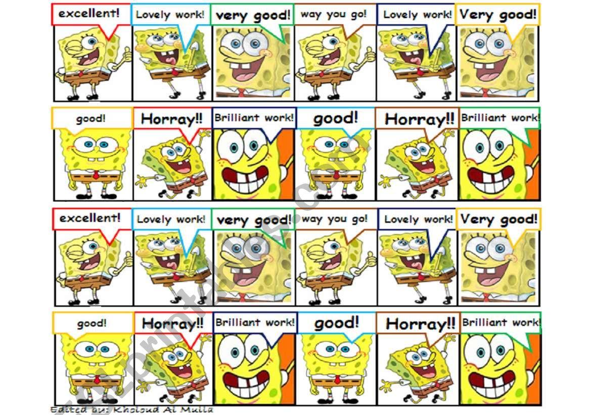 Rewarding Stickers Spongebob