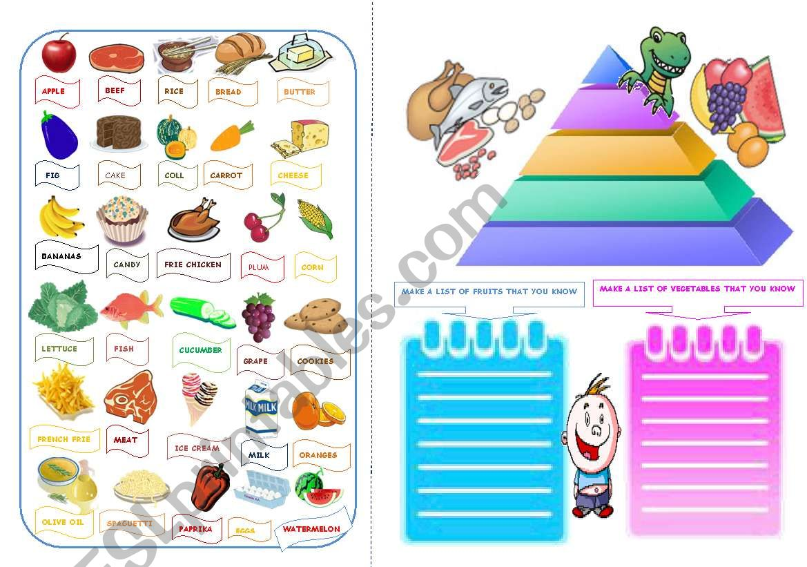 The Pyramid Of Food Part 3 The Pictionary