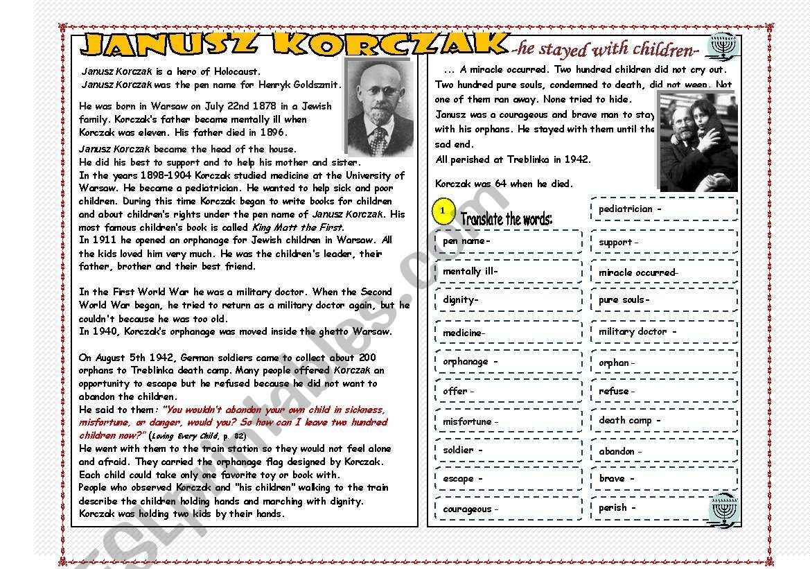 A Hero And The Holocaust The Story Of J Z Korczak And