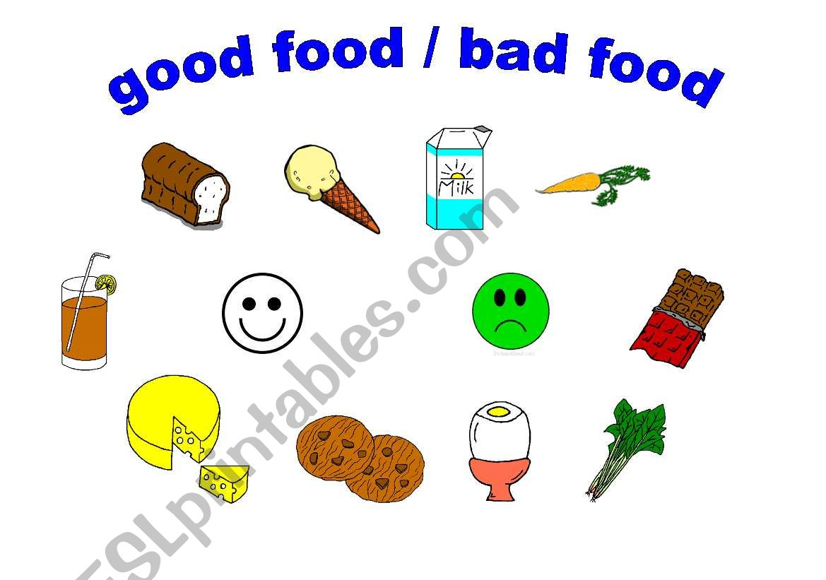 Good Food Bad Food Worksheet