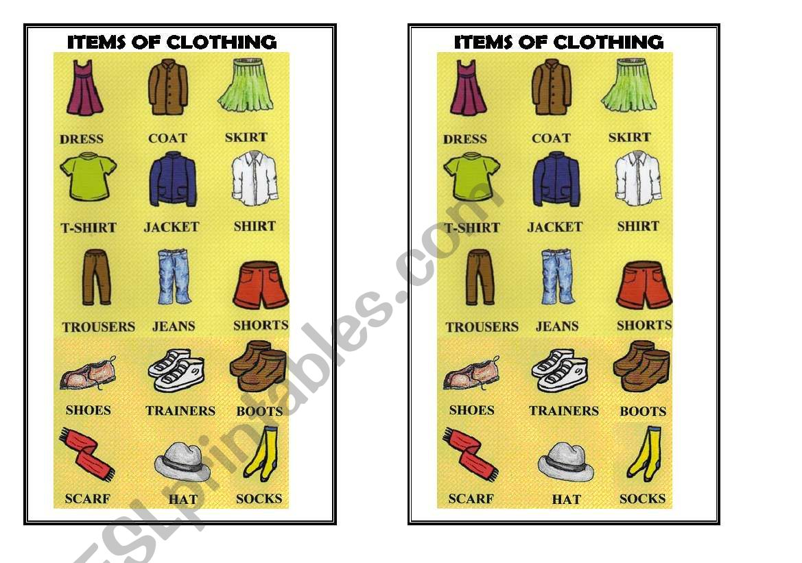Items Of Clothing