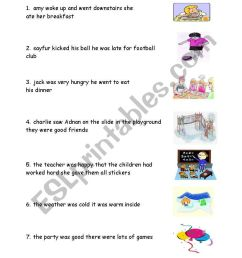 capital letters and full stops - ESL worksheet by carrieday18 [ 1169 x 821 Pixel ]