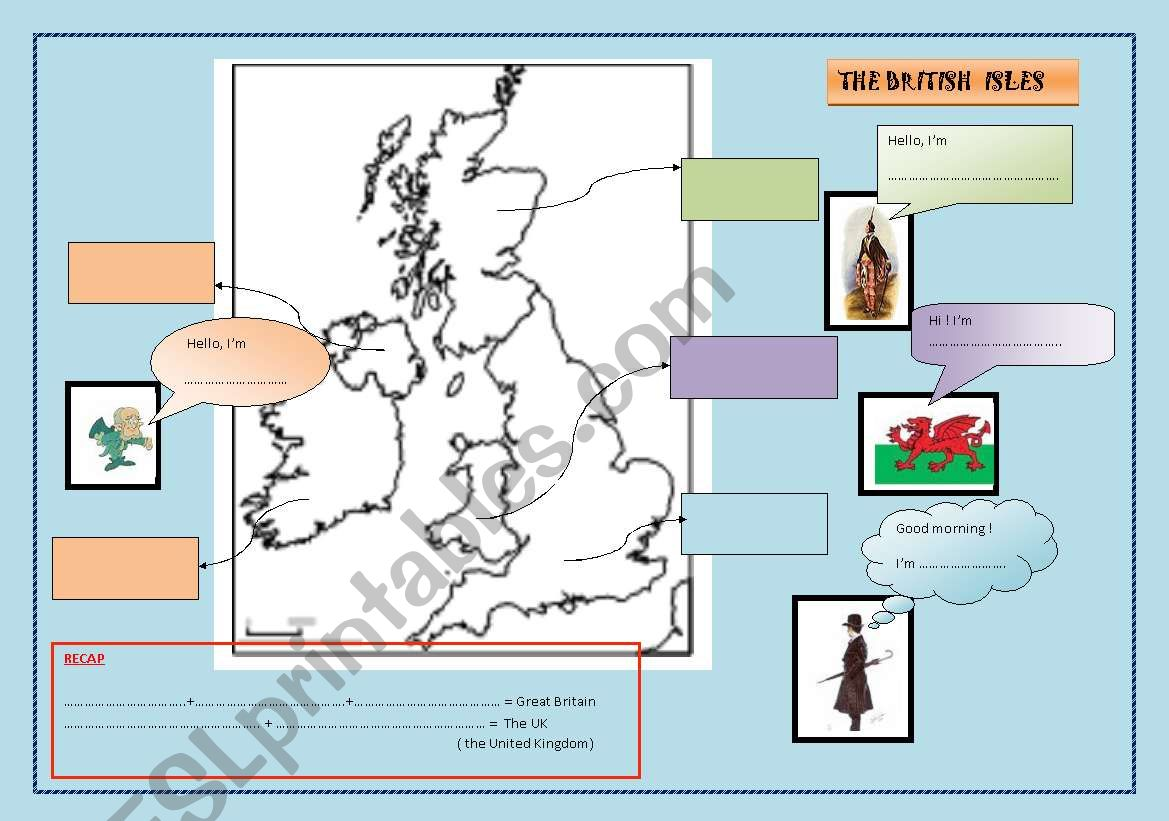 The British Isles A Map To Be Completed Nationality
