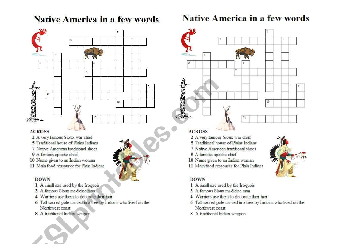 hight resolution of Native American Hostory Worksheet   Printable Worksheets and Activities for  Teachers