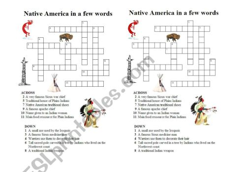 small resolution of Native American Hostory Worksheet   Printable Worksheets and Activities for  Teachers