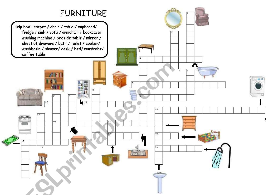 Furniture Grammar Worksheet