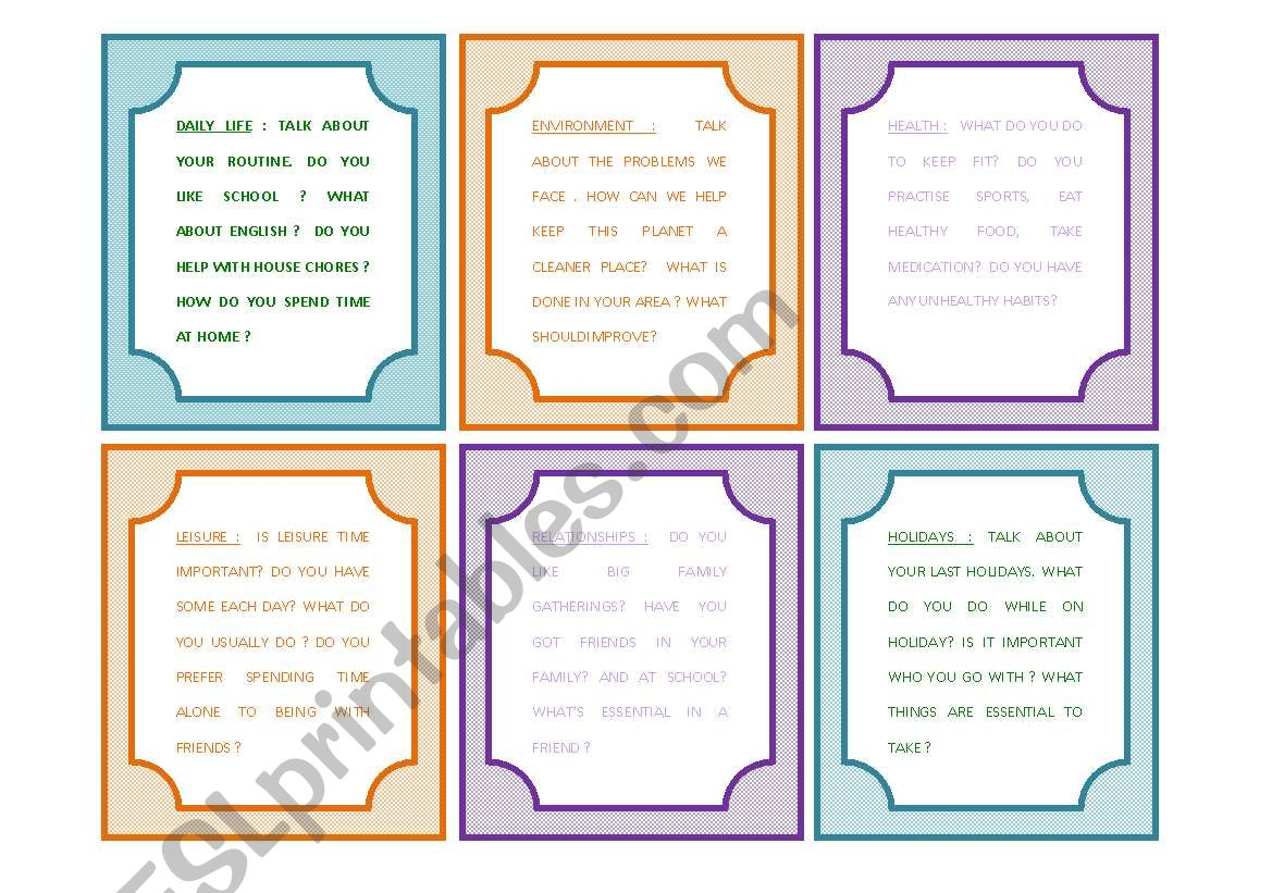 Conversation Cards 12