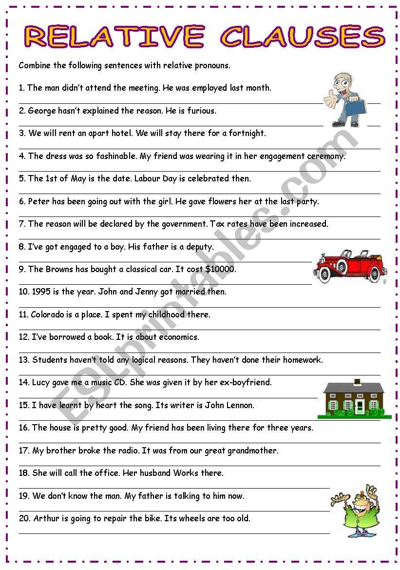 medium resolution of Adjective Clause Exercise With Answer Key   Exercise