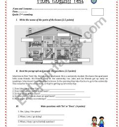 English test for 2nd grade secondary - ESL worksheet by Pamelix [ 1169 x 821 Pixel ]