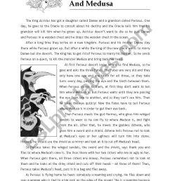 Perseus and Medusa´s Myth - ESL worksheet by jazchulinchu [ 1169 x 821 Pixel ]
