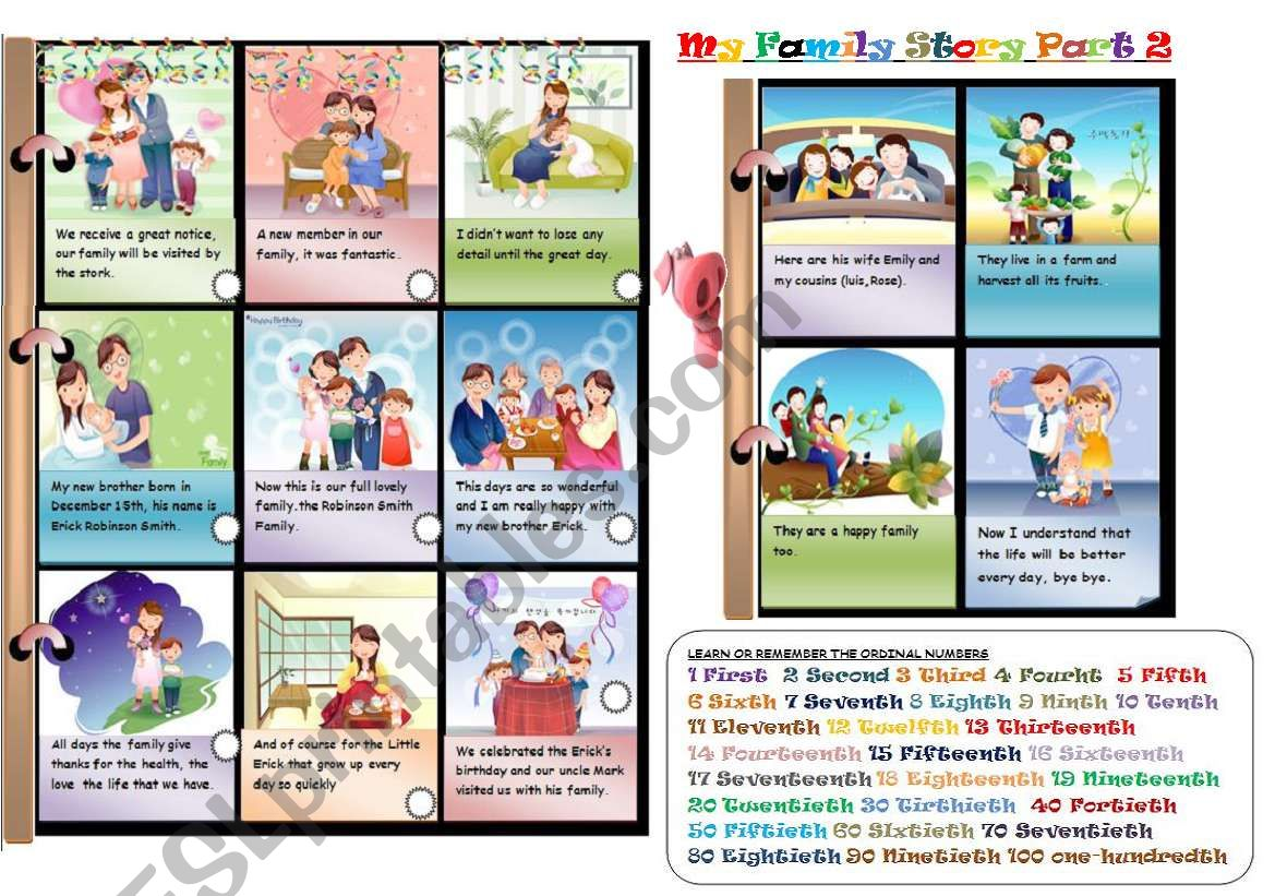 My Family Story Part 2 3 Two Activities Learn And Play